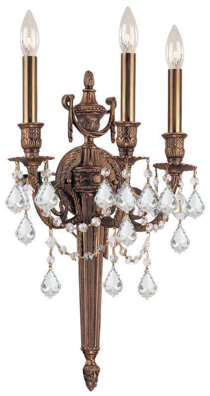 Crystorama Lighting Group 753-MB Arlington 3 Light Candle Style Wall Sale $500.00 ITEM: bci1330451 ID#:753-MB-CL-MWP UPC: 633779002649 :