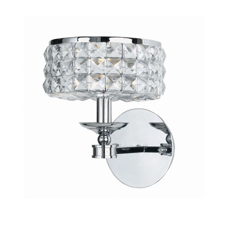 Crystorama 801-CH-CL-MWP Chrome Contemporary Chelsea Wall Sconce Sale $250.00 ITEM: bci622438 ID#:801-CH-CL-MWP UPC: 633779000027 :