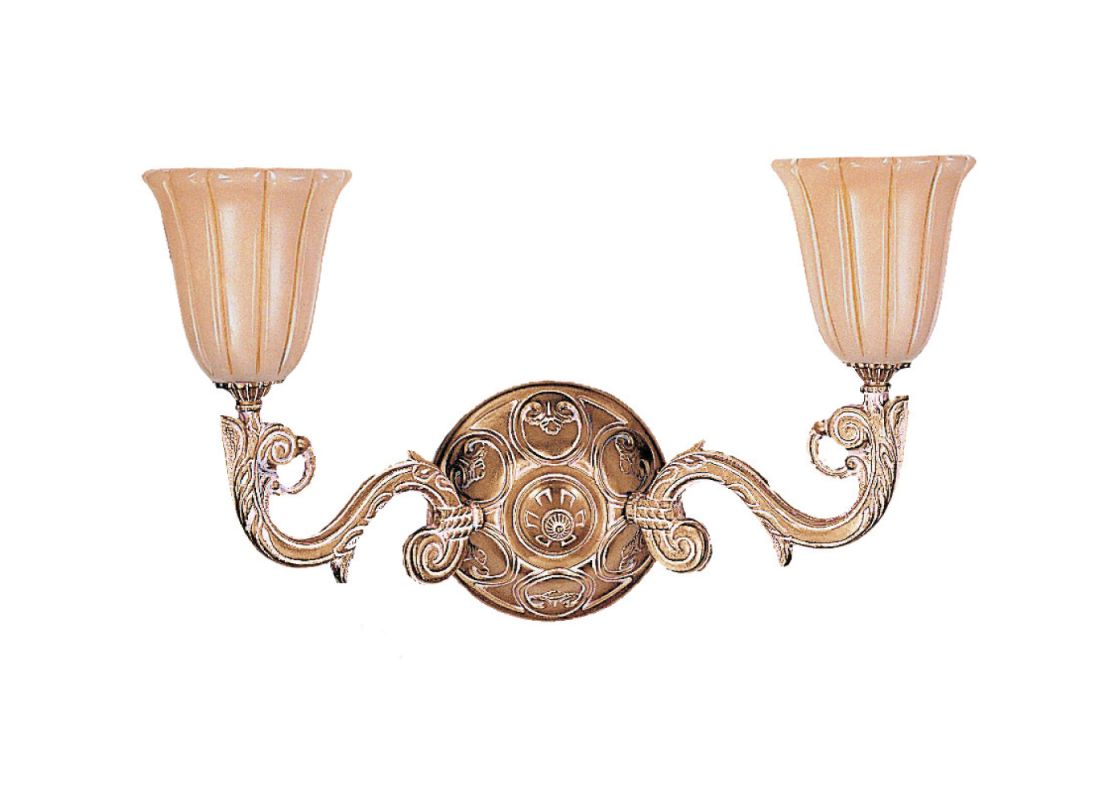 Crystorama Lighting Group 892 Natural Alabaster 2 Light Double Wall