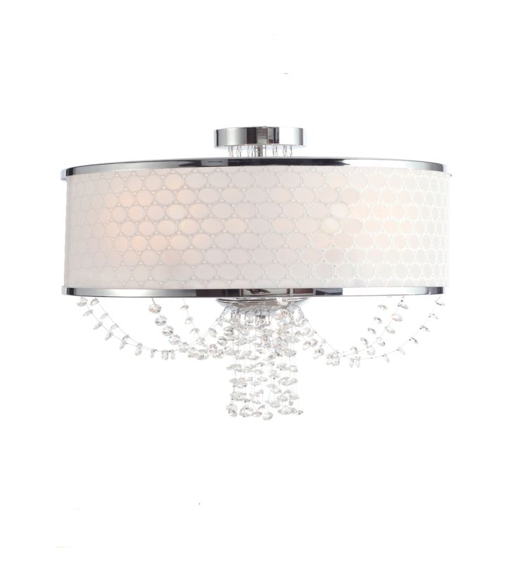 Crystorama 9803-CH Chrome Contemporary Allure Ceiling Light Sale $598.00 ITEM: bci1718850 ID#:9803-CH UPC: 633779014482 :