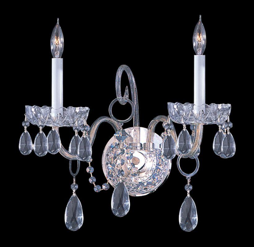 Crystorama Lighting Group 1032-CL-S Traditional Crystal 2 Light