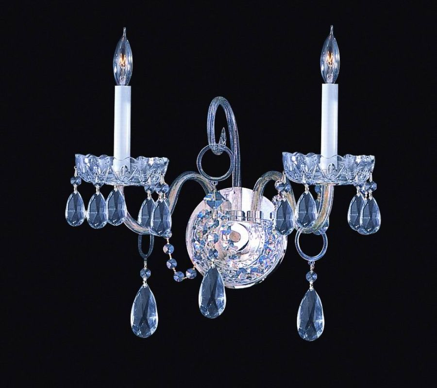 Crystorama Lighting Group 1032-CL-SAQ Traditional Crystal 2 Light Wall
