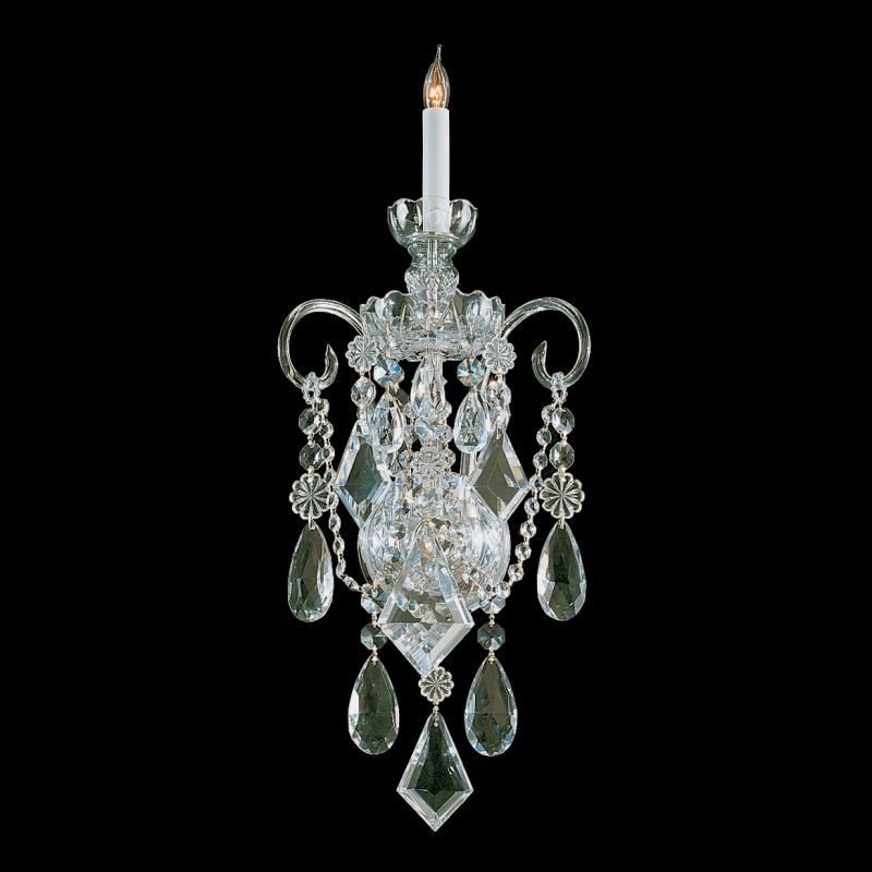 Crystorama Lighting Group 1041-CL-MWP Traditional Crystal 1 Light