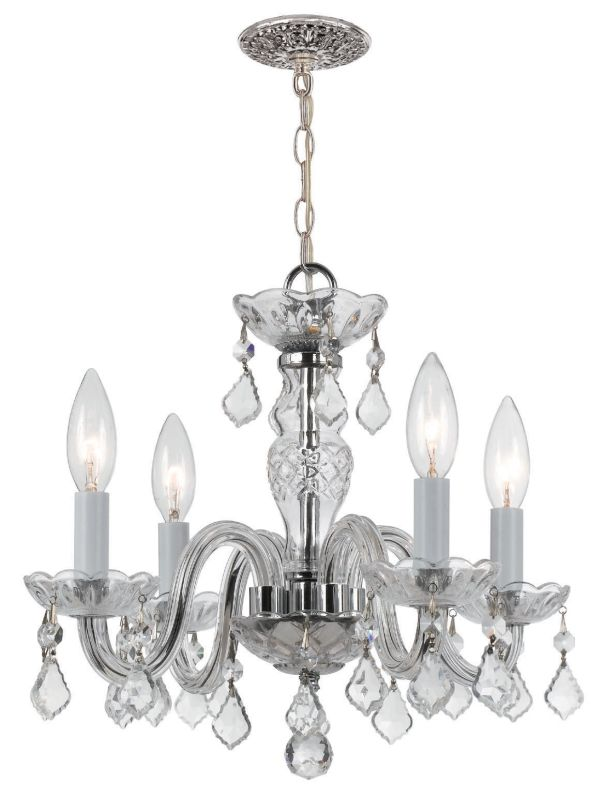 Crystorama Lighting Group 1064-CL-S Traditional Crystal 4 Light Clear