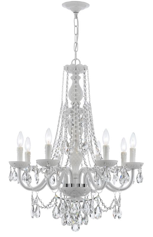 """Crystorama Lighting Group 1078-CL-S Envogue 8 Taper Candle Light 26"""""""