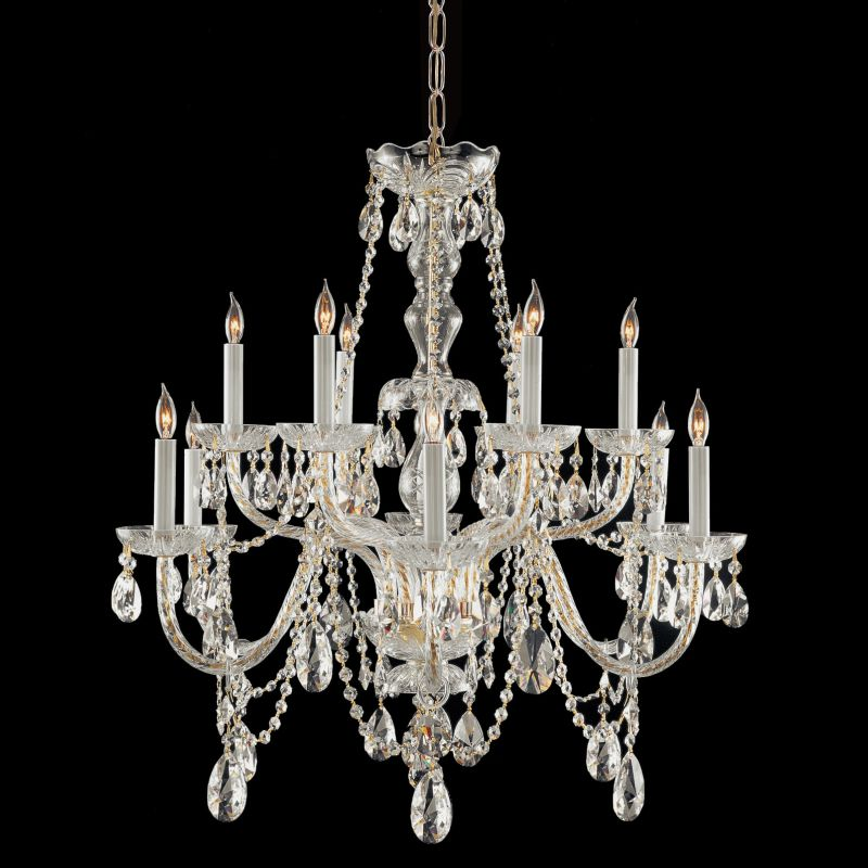 Crystorama Lighting Group 1135-CL-S Traditional Crystal 12 Light Clear