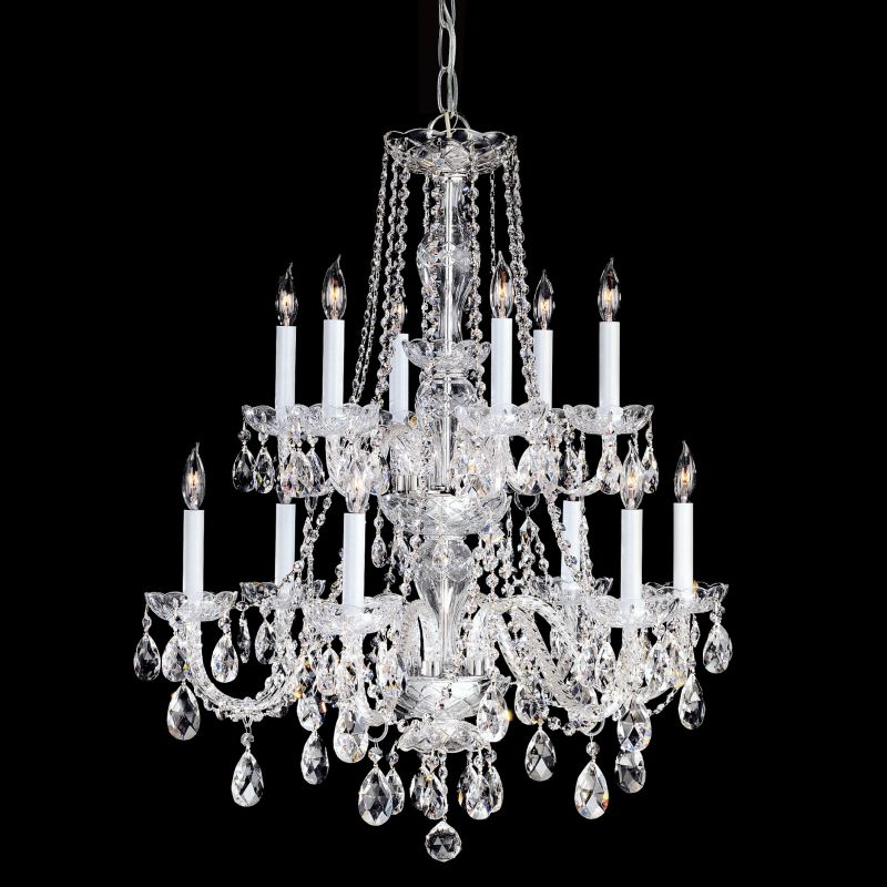 Crystorama Lighting Group 1137-CL-S Traditional Crystal 12 Light Clear
