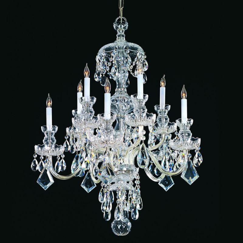 Crystorama Lighting Group 1140-CL-S Traditional Crystal 10 Light Clear