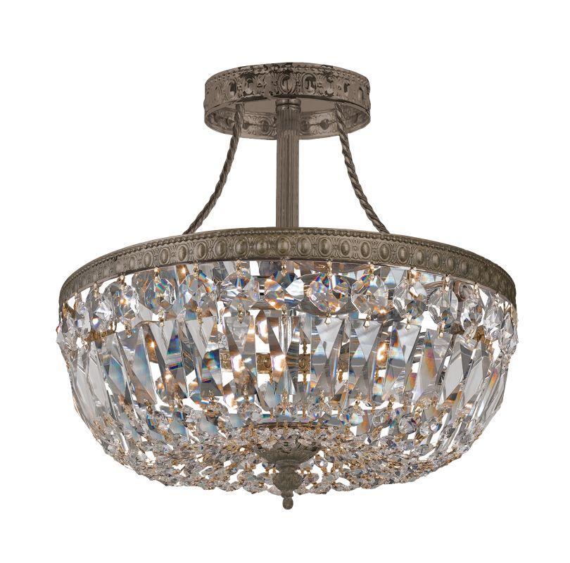 Crystorama Lighting Group 119-10-CL-SAQ Traditional Crystal 3 Light