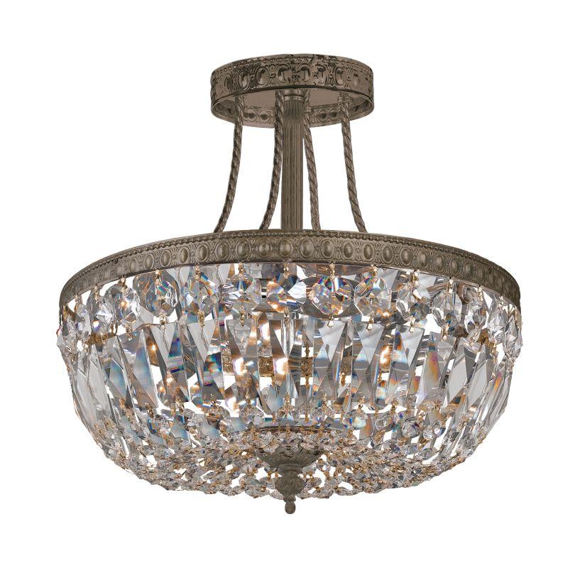 Crystorama Lighting Group 119-12-CL-SAQ Traditional Crystal 3 Light