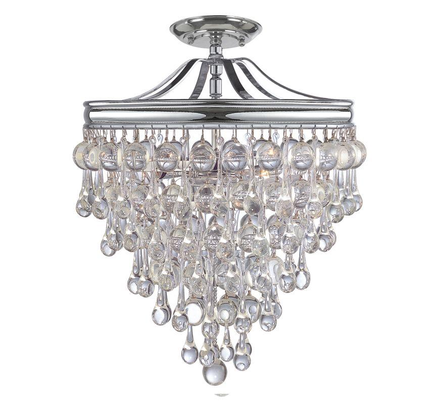 Crystorama Lighting Group 130-C Calypso 3 Light Semi-Flush Ceiling