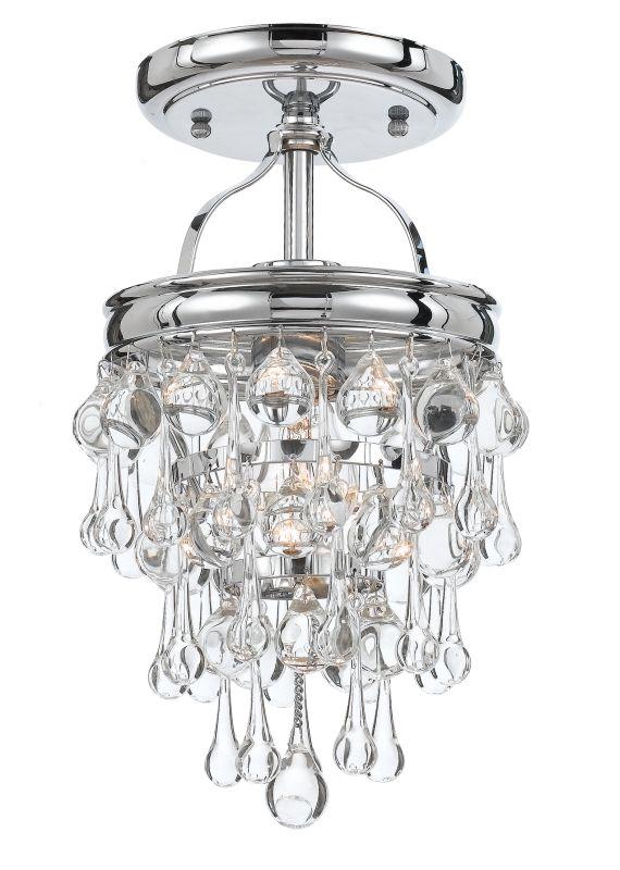 Crystorama Lighting Group 131-C Calypso 1 Light Semi-Flush Ceiling