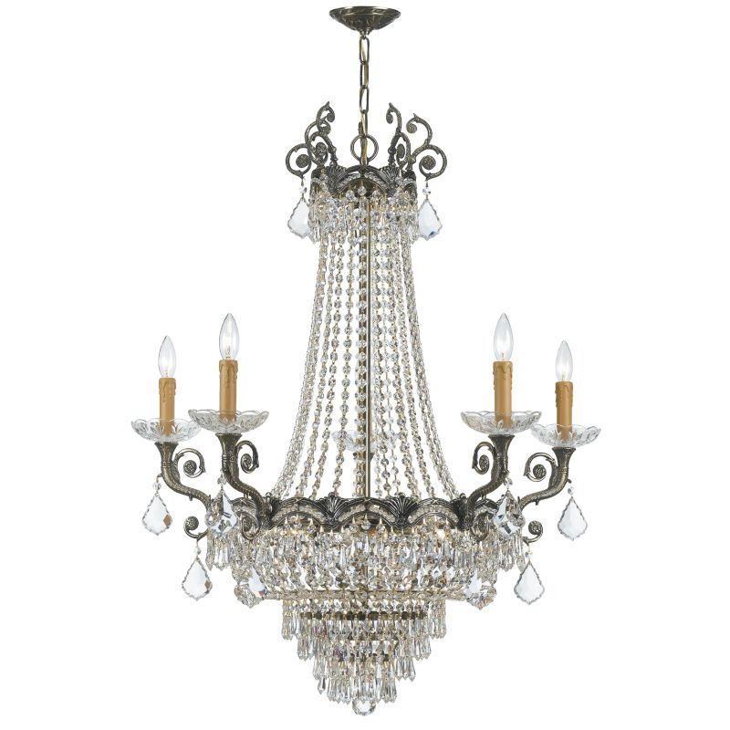 "Crystorama Lighting Group 1486-CL-SAQ Majestic 13 Light 33"" Wide Cast"