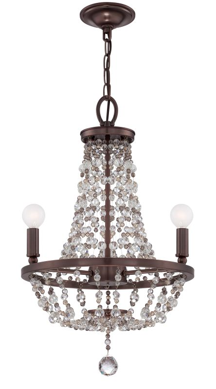 "Crystorama Lighting Group 1543-MWP Channing 3 Light 15"" Wide Steel"