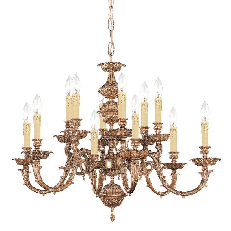 "Crystorama Lighting Group 2412 Oxford 12 Light 30"" Wide 2 Tier Cast"