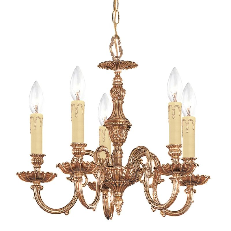 "Crystorama Lighting Group 2605 Novella 5 Light 18"" Wide Cast Brass"