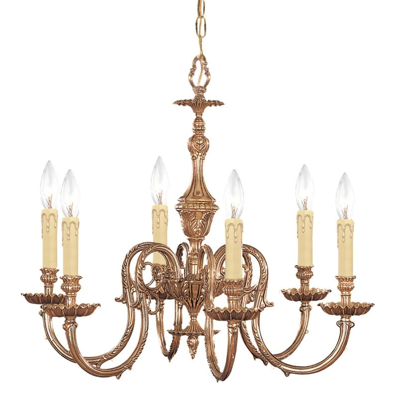 "Crystorama Lighting Group 2606 Novella 6 Light 25"" Wide Cast Brass"