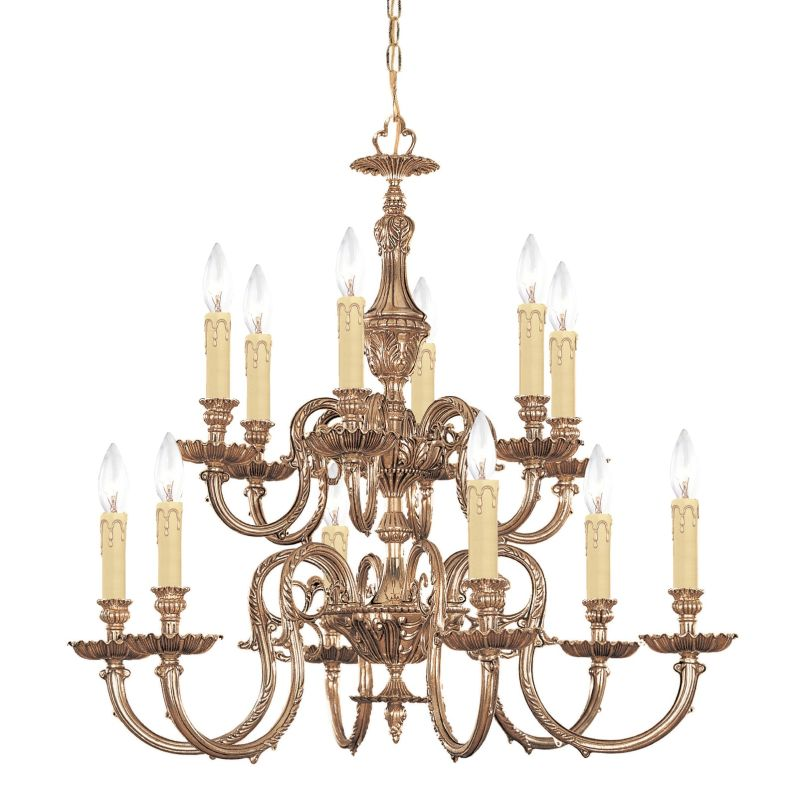 "Crystorama Lighting Group 2612 Novella 12 Light 26"" Wide 2 Tier Cast"