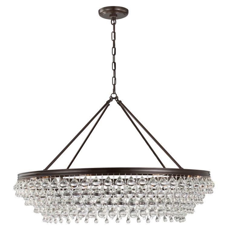 "Crystorama Lighting Group 278 Calypso 8 Light 40"" Wide Chandelier with Sale $2400.00 ITEM: bci2879199 ID#:278-VZ UPC: 633779032394 :"