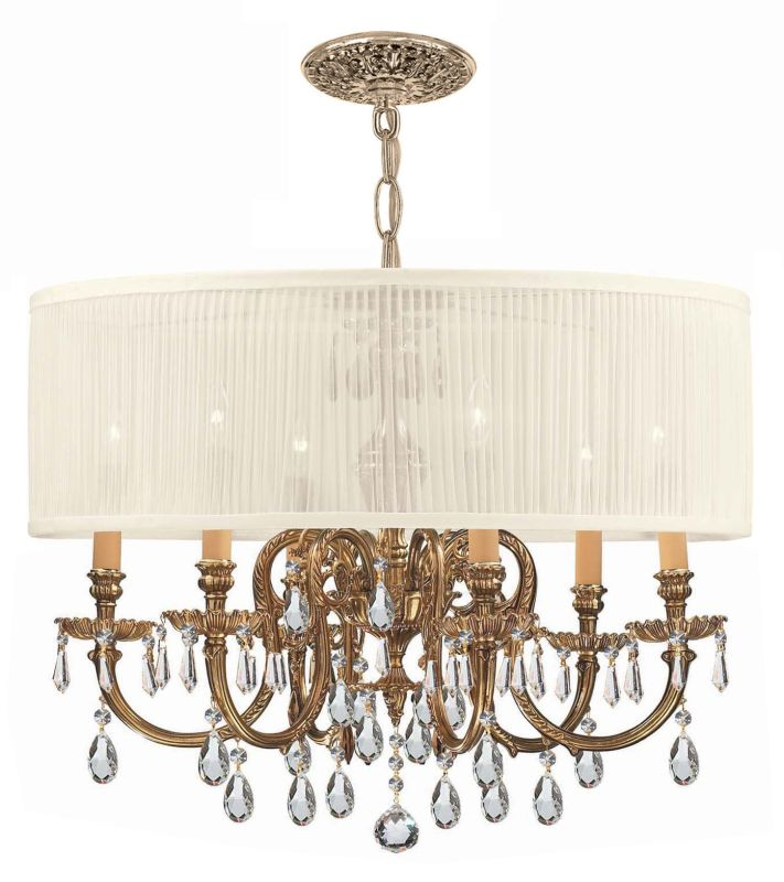 "Crystorama Lighting Group 2916-SAW-CLQ Brentwood 6 Light 26"" Wide Cast"