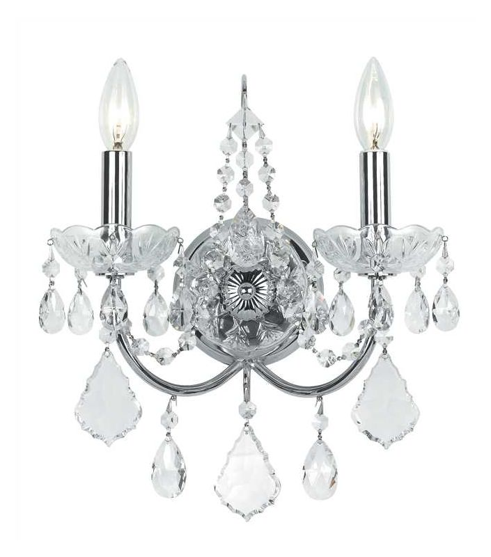 Crystorama Lighting Group 3222-CL Imperial 2 Light Swarovski Strass Sale $250.00 ITEM: bci1673261 ID#:3222-CH-CL-MWP UPC: 633779000102 :