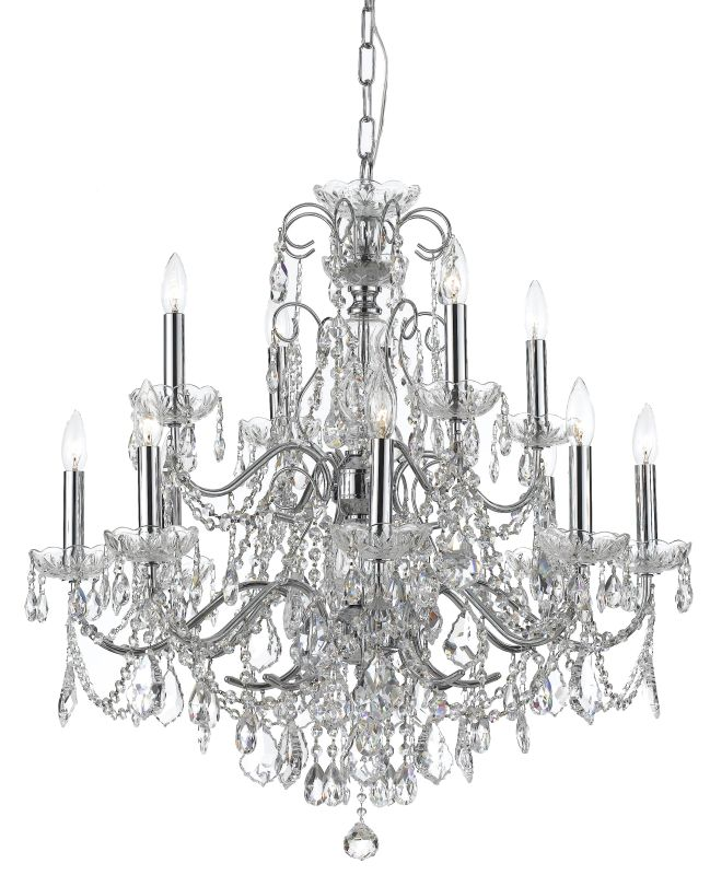 """Crystorama Lighting Group 3228-CL-SAQ Imperial 12 Light 30"""" Wide 2"""