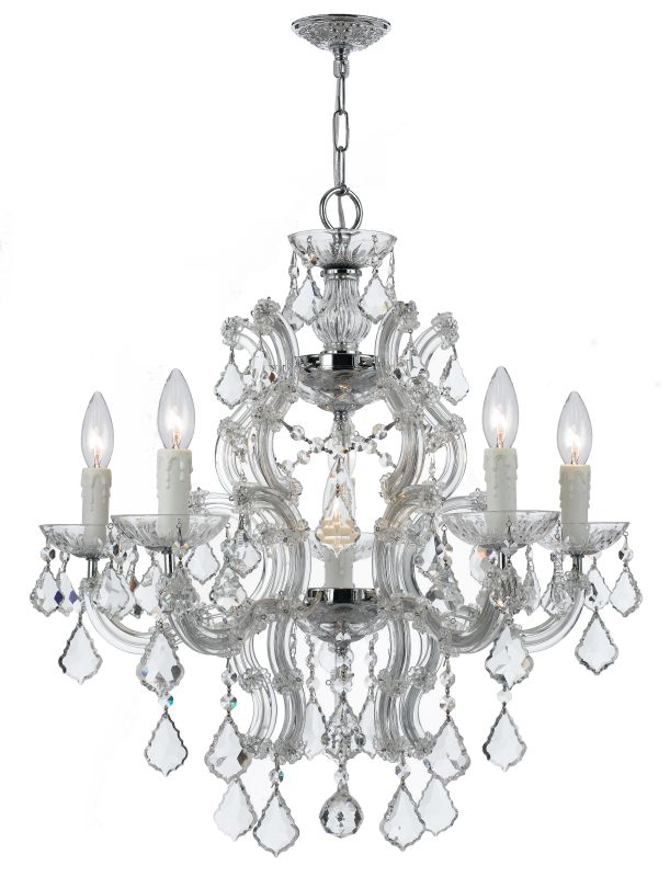 Crystorama Lighting Group 4335-CL-SAQ Maria Theresa 6 Light 23&quote Wide