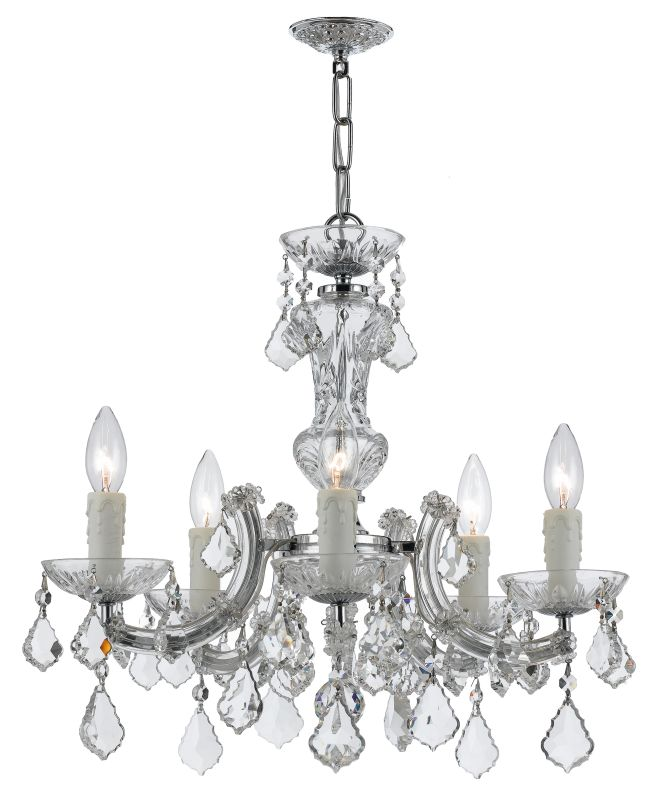 Crystorama Lighting Group 4376-CL-S Maria Theresa 5 Light Sale $618.75 ITEM: bci2551673 ID#:4376-CH-CL-S UPC: 633779025389 :
