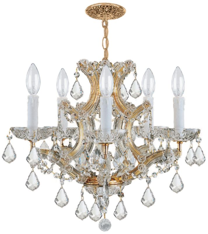 Crystorama Lighting Group 4405-CL-SAQ Maria Theresa 6 Light 20&quote Wide