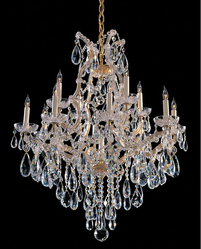 Crystorama Lighting Group 4413-CL-MWP Maria Theresa 13 Light 28&quote Wide