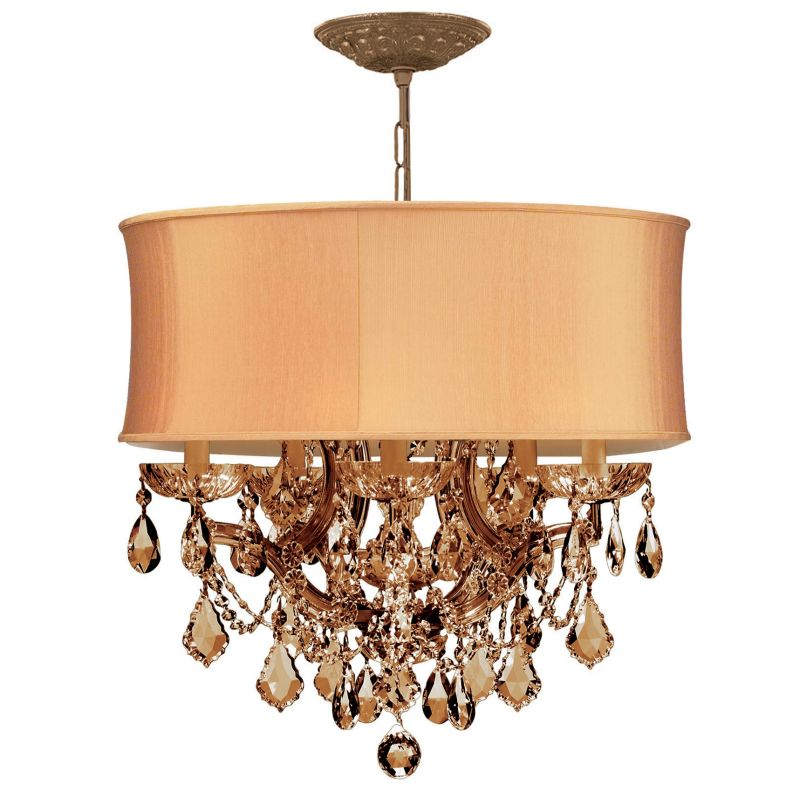 "Crystorama Lighting Group 4415-SHG-GTM Brentwood 6 Light 20"" Wide"