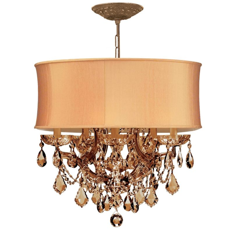 "Crystorama Lighting Group 4415-SHG-GTS Brentwood 6 Light 20"" Wide"