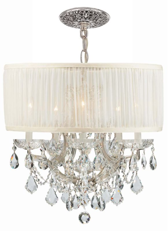"Crystorama Lighting Group 4415-SAW-CLQ Brentwood 6 Light 20"" Wide"