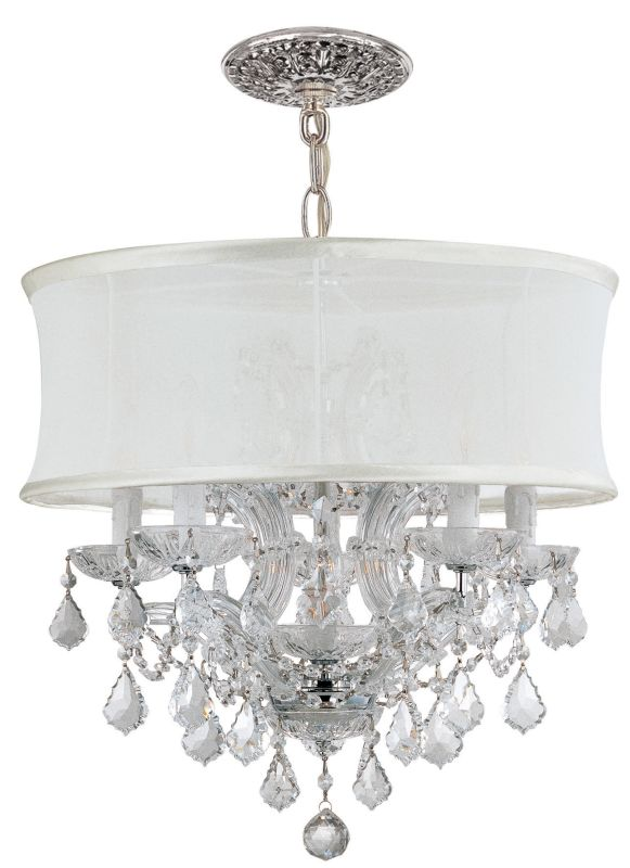 "Crystorama Lighting Group 4415-SMW-CLQ Brentwood 6 Light 20"" Wide"