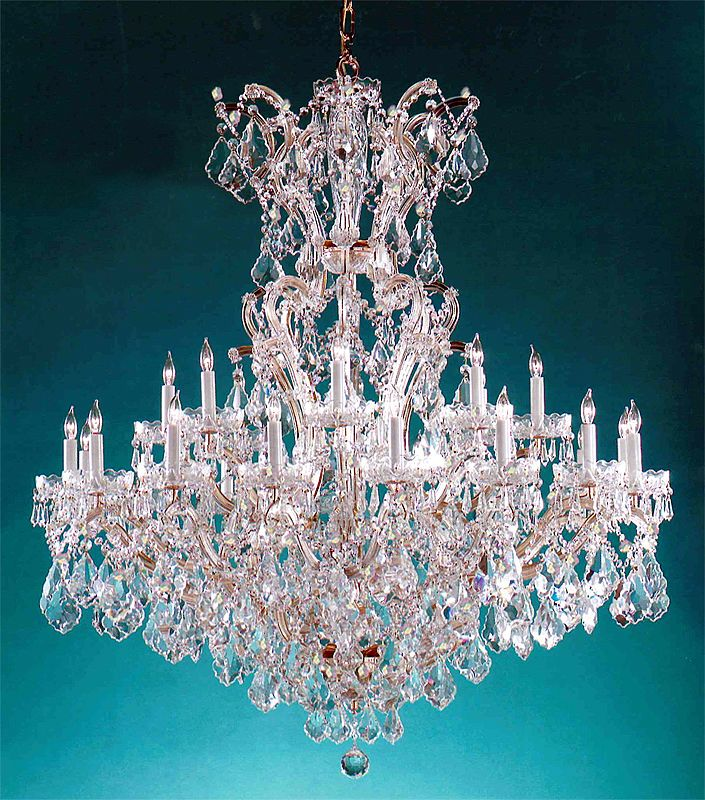 Crystorama Lighting Group 4424-CL-S Maria Theresa 25 Light Swarovski