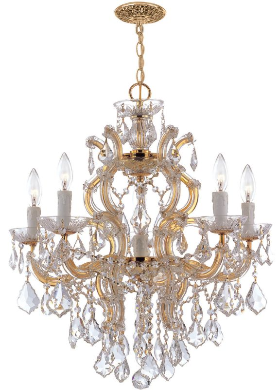 Crystorama Lighting Group 4435-CL-SAQ Maria Theresa 5 Light 23&quote Wide