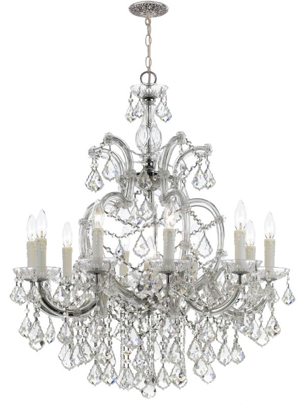 Crystorama Lighting Group 4438-CL-MWP Maria Theresa 11 Light 29&quote Wide