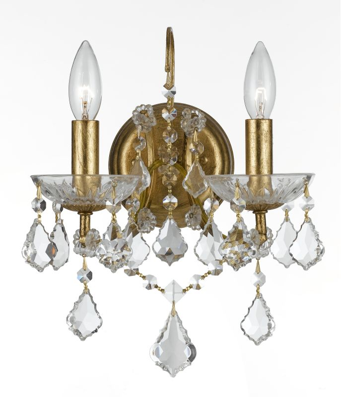 Crystorama Lighting Group 4452-CL-S Filmore 2 Light Candle Style