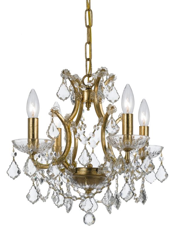 "Crystorama Lighting Group 4454-CL-MWP Filmore 4 Light 18"" Wide Wrought"