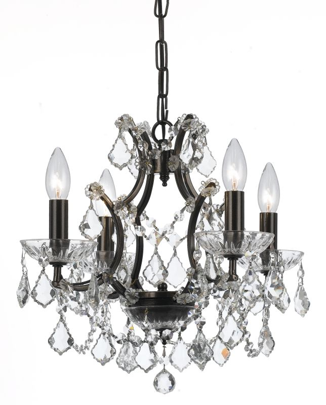 """Crystorama Lighting Group 4454-CL-MWP Filmore 4 Light 18"""" Wide Wrought"""