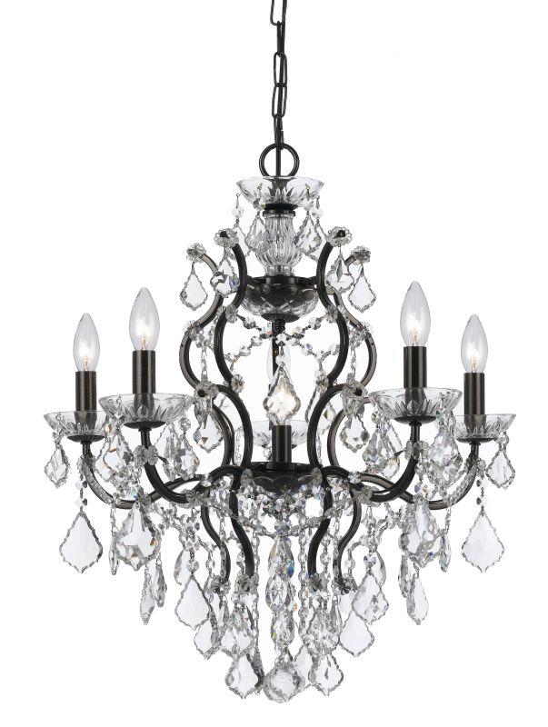 """Crystorama Lighting Group 4455-CL-S Filmore 6 Light 23"""" Wide Wrought"""