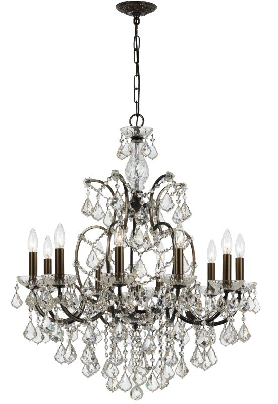 "Crystorama Lighting Group 4458-CL-S Filmore 10 Light 28"" Wide Steel"