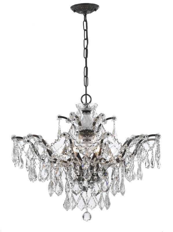 "Crystorama Lighting Group 4459-CL-SAQ Filmore 6 Light 27"" Wide Wrought"