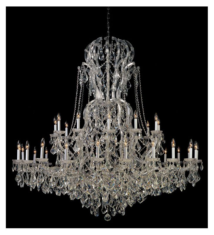 Crystorama Lighting Group 4460-CL-SAQ Maria Theresa 37 Light 64&quote Wide