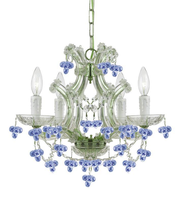 Crystorama Lighting Group 4474-BLUE Paris Flea Market 4 Light