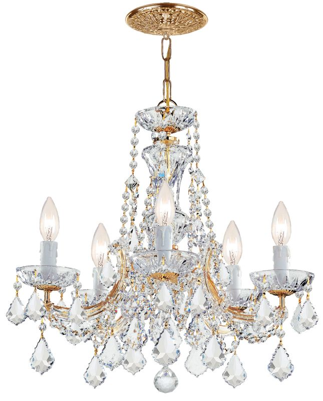 Crystorama Lighting Group 4476-CL-MWP Maria Theresa 5 Light 20&quote Wide