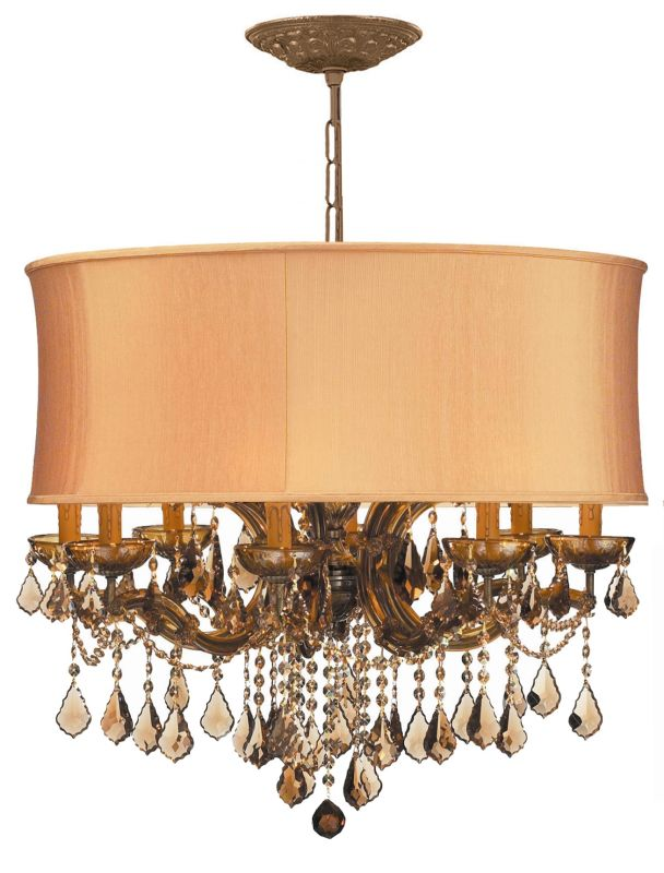 "Crystorama Lighting Group 4489-SHG-GTS Brentwood 12 Light 30"" Wide"