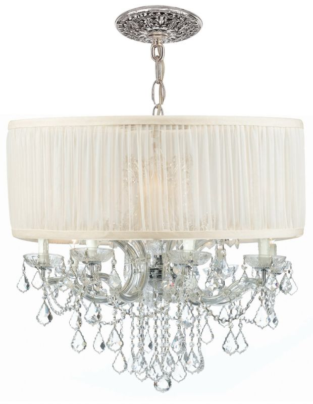 "Crystorama Lighting Group 4489-SAW-CLM Brentwood 12 Light 30"" Wide"