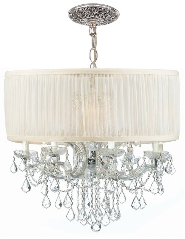 "Crystorama Lighting Group 4489-SAW-CLQ Brentwood 12 Light 30"" Wide"