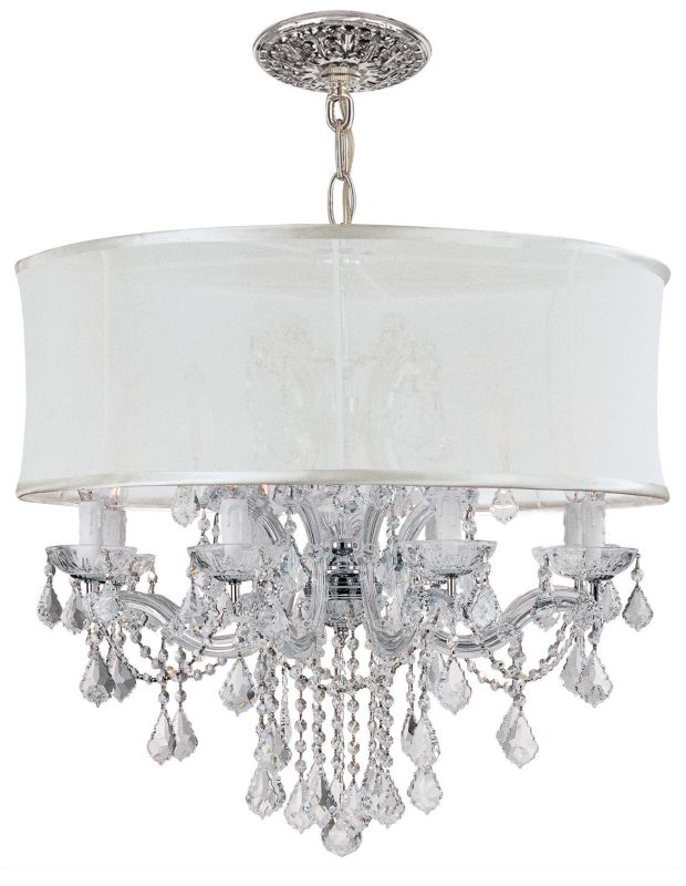 "Crystorama Lighting Group 4489-SMW-CLM Brentwood 12 Light 30"" Wide"